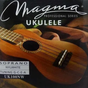 Encordado Cuerdas Ukelele Soprano Magma Uk100nw Nylon White