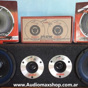 Kit Rackera 6″ Parlantes de Medios  + 2 Super Tweeter Bala 600Watts